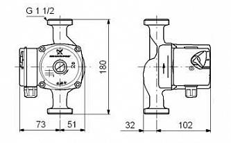 Циркуляционный насос Grundfos UPS 25-80 180(95906440)