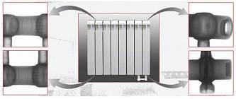 Биметаллический радиатор Rifar MONOLIT 500 (4 секции)
